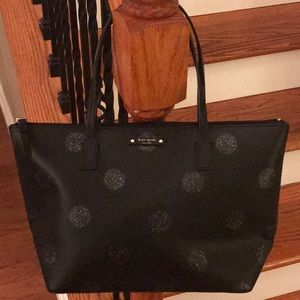 Nwot♠️Kate Spade Black Hani Haven Lane nylon tote!